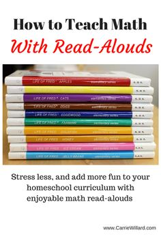 Ever wondered how to teach math with read-alouds? Inject a little fun into your homeschool with these math-themed read aloud books.