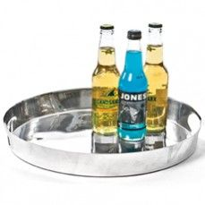Glamorous Round Aluminium Tray    $38.00 @ http://www.antiquefarmhouse.com/current-sale-events/beautiful-accents.html