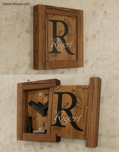 Solid Pine Concealed Gun Storage, Gun Storage, Hidden Gun Storage, Monogram Family Name Sign - Best Picture For bedroom wardrobe For Your Taste You are looking for something, and it is going t - Hidden Gun Storage, Safe Storage, Storage Area, Diy Wood Projects, Wood Crafts, Rangement Art, Woodworking Plans, Woodworking Projects, Woodworking Videos