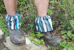 Unisex   print boot gaiters  boot covers gardening by turvytopsy