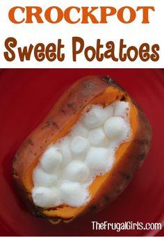 How to Make Crockpot Sweet Potatoes - at TheFrugalGirls.com