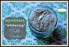Extraordinary Homemade Whitening Tooth Powder for Non-Toxic Oral Care. This homemade whitening tooth powder recipe contains only a few ingredients that can all contribute to a healthy smile and promote fresh breath.