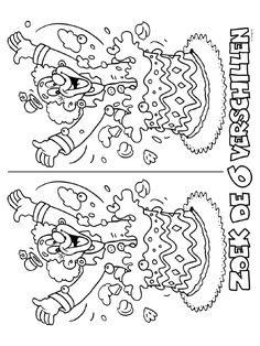 Kleurplaat Zoek de 6 verschillen - Kleurplaten.nl Color Activities, Activities For Kids, Crafts For Kids, Diy Crafts, Circus Birthday, Circus Theme, Puzzle Photo, Theme Carnaval, Le Clown