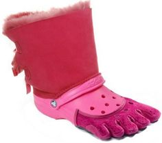oh wow.. a combination of the worlds ugliest shoes