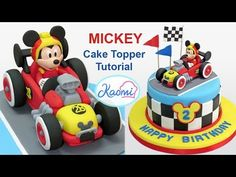 Mickey and the Roadster Racers Cake Topper / Mickey Aventuras Sobre Ruedas para tortas - YouTube