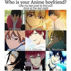 My Little Monster, ?, Ao Haru Ride, Noragami, Gekkan Shoujo Nozaki- kun, Tamako Love Market, Fairy Tail, Diabolik Lovers, Ao no Exorcist.
