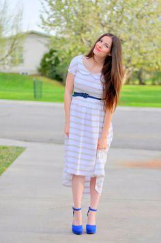 Maternity striped knit dress | DIY maternity