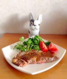 Steak au wasabi