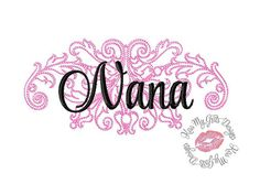 Nana Damask  Machine Embroidery Design by KissMyGritsDesigns