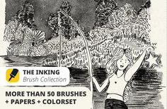 The Inking Collection Brushes by DaniMad Brushes on @creativemarket