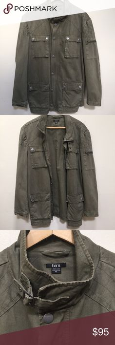 Hipster Bar III Windbreaker Parka Jacket Like New! Hipster Bar III Windbreaker Parka Camo Green Jacket! Excellent Condition! 100% Cotton! Lightweight! Wardrobe Must Have! Bar III Jackets & Coats Military & Field