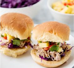 This recipe for Tropical Pork Sliders is a can't-be-missed pulled pork slow cooker recipe. Great for entertaining, this slow cooker appetizer recipe is both colorful and tasty. Made with a homemade rub, the pork is tender and juicy.