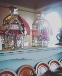 Christmassy jars at Heeley Bank Antiques Centre Jars, Centre, Upcycle, Antiques, Rose, Vintage, Home Decor, Homemade Home Decor, Pink