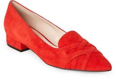 Cole Haan Fiery Red Blakeli Pointed Toe Skimmer Flats