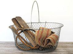 Large Vintage Wire Basket