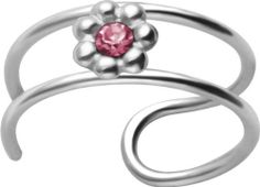 2-Band Pink CZ Flower Non-Pierced Silver Cartilage Clip Earring FreshTrends. $5.99. A great way to try out a still without committing. Made from .925 Sterling Sivler. Can be used on your ear, lip, eyebrow, and anywhere else you think of