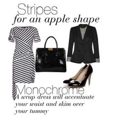 stripes for an apple shape