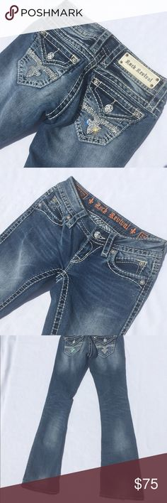 """Rock revival 25/30"""" noelle boot In great shape only very slight wear as pictured on one bottom leg Rock Revival Jeans"""