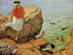 henri lebasque | ... / LEBASQUE / Henri LEBASQUE Sur les rochers à Agay