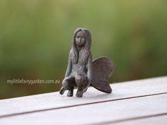 Brook - The Iron Fairies My Little Fairy Garden Fairies, Sculptures, Owl, Iron, Garden, Animals, Decor, Faeries, Garten