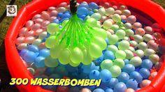 300 Wasserbomben  und eine Meerjungfrau  Bunch O Balloons Demo