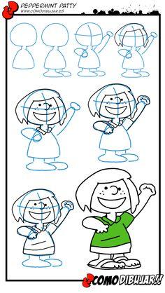 Como dibujar a Peppermint Patty de PEanuts: http://www.comodibujar.es/tutoriales-dibujo/como-dibujar-a-patty-de-peanuts/