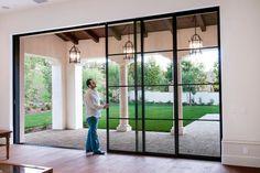 Steel Pocket Sliding Doors Mediterranean Patio Orange County Steel French Patio Doors #frenchmodernhome