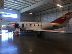 U.S. Coast Guard HU-25 Falcon at the Aerospace Museum of California in Sacramento,CA at McClellan Air Park