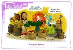 Pocket Princesses 115: Summer Harvest Please reblog, do not repost! Facebook page