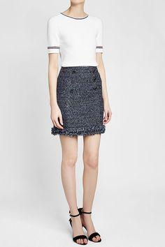VANESSA SEWARD - Fox Knit Top   STYLEBOP White Style, Sequin Skirt, Mini Skirts, Knitting, Fox, Shopping, Women, Fashion, Clothing
