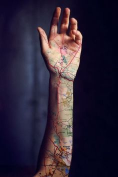 Attention Travelers, These Map Tattoos Will Give You Major Wanderlust – piercings Map Tattoos, Neue Tattoos, Body Art Tattoos, Sleeve Tattoos, Mens Neck Tattoos, Mens Leg Tattoo, Buddha Tattoos, Tattoo Sleeves, Anchor Tattoos