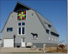 Blazing star barn quilt...just came across my parents barn on Pinterest in Sac County, Iowa