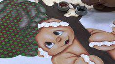 Mulher.com 19/09/2014 - Pintura Tecido Ginger Bread Natal por Lilinha Silva