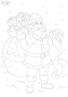 Ausmalbild Weihnachtsmann