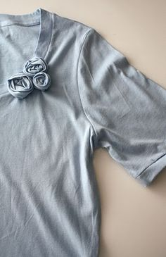 Turn a long sleeve T-shirt into a short one!  Perfect for my winter maternity shirts headed into this summer :)