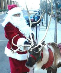 Santa and his Reindeer will visit the Happy Up stores!  Click through to see the schedule and make this a part of your family's Holiday celebrations.