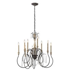 CanadaLightingExperts | Kimblewick - Nine Light Chandelier