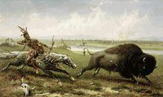 Frederick Walker - Buffalo Hunt - Native American Print