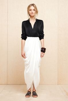 Elizabeth and James Spring 2013 RTW - beautifully draped and tailored black + white look