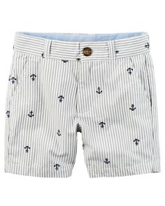 Kid Boy Schiffli Embroidered Anchors Twill Shorts from Carters.com. Shop clothing & accessories from a trusted name in kids, toddlers, and baby clothes.