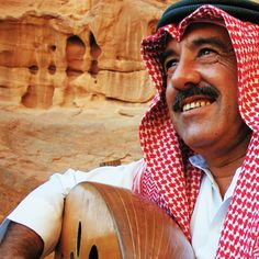 #Bedouins in #Jordan are very generous, welcoming and very famous for their sense of hospitality! This is a picture of Bedouin man in #Petra playing a Jordanian #music instrument called #AlRababa. #instagood #instamood #instadaily #bestoftheday #Jordan #travel #exotic #2015traveldestination #ZamanToursJordan
