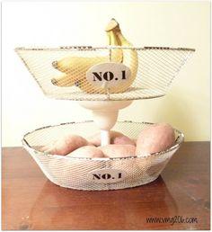 DIY Tiered Kitchen Basket... Cool!