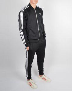 8edda4733cb9 RARE adidas Originals MEN S SUPERSTAR TRACK JACKET   PANTS BLK LARGE LAST 1