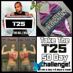 I was on a phone call with Shaun T yesterday and he challenged me BIG time!  Some of you know that I will be starting round 2 of Focus T25 on Monday (so pumped).  The picture of me here is from my 1st round that I did before my wedding last year and the program literally got me ripped.    The bathing suit I also have pictured is super old, but I have like never worn it.  It is more cut in the booty area than I ever wear so my GOAL this round is to ROCK the suit in Vegas in 2.5 months.  I… Fitness Motivation Wallpaper, Fitness Motivation Pictures, Workout Humor, Gym Workouts, Gym Workout For Beginners, Phone Wallpaper Quotes, Workout Pictures, Running Inspiration, How To Gain Confidence