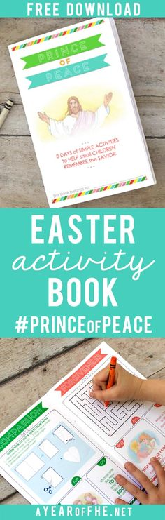 #PRINCEofPEACE // A free download of a great booklet for young kids to celebrate #Easter! Includes simple, daily, activities that Primary-age kids can do each day with little or no help from adults that coincide with the 8 days of Peaceful Principles for adults hosted by the #LDS church! Your kids will LOVE this!