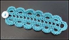 Crochet Bracelet Lace Cuff Teal Blue by OnTheHook on Etsy, $12.00