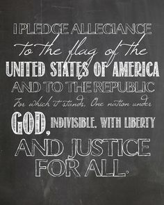 Pledge of Allegiance free chalkboard printable Chalkboard Art, Chalkboard Classroom, Chalkboard Printable, Chalkboard Drawings, Pledge Of Allegiance, Chalk It Up, Usa Tumblr, Allegiant, Do It Yourself Home