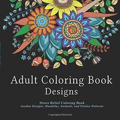 Adult Coloring Book Arts Garden Designs Mandalas Animals Beautiful Creative Art #AdultColoringBookDesignsTwiggler