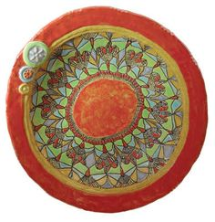 Aunt Millie's Faux Mosaic Bowl: Laurie Pollpeter Eskenazi: Ceramic Bowl | Artful Home