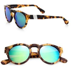 Westward Leaning Voyager 48MM Round Sunglasses ($205) ❤ liked on Polyvore featuring accessories, eyewear, sunglasses, apparel & accessories, tortoise, tortoiseshell sunglasses, round tortoiseshell sunglasses, acetate glasses, tortoiseshell glasses and round lens sunglasses